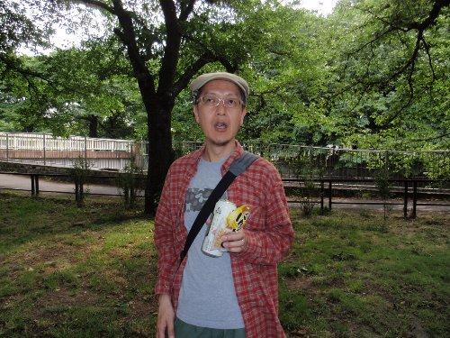 善福寺緑地でビール